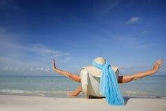 La vida es una playa imágenes de archivo libres de regalías
