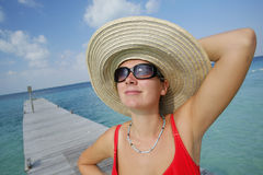 La vida es una playa (el embarcadero) imágenes de archivo libres de regalías
