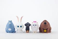 La vida secreta del juguete de los animales domésticos Imagen de archivo libre de regalías