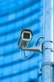 La videosorveglianza moderna della costruzione Fotografie Stock Libere da Diritti