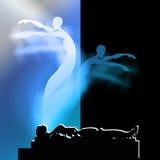 La vie après la mort et la vie après la mort Choix entre Samsara ou nirvana image libre de droits