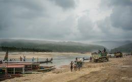 La vie autour de Jaflong Images libres de droits