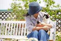 La vie avec des animaux familiers Photos stock