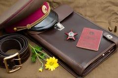 La vie avec des objets de vintage consacrait toujours à Victory Day Images libres de droits