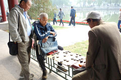 La vie chinoise d'aînés Images libres de droits