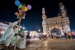 La vie continue à Hyderabad images libres de droits