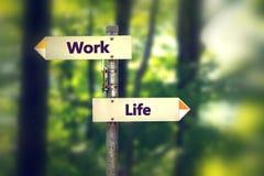 La vie d'équilibre et concept de travail photographie stock