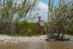 La vie d'île de survie Photo libre de droits