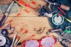 La vie d'attirails de pêche toujours Images libres de droits
