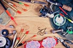 La vie d'attirails de pêche toujours Image stock
