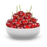 la vie 3d est un bol de cerises illustration stock