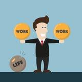 La vie d'homme d'affaires n'est pas équilibre image stock