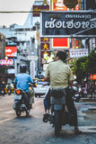La vie de Chinatown Photo libre de droits