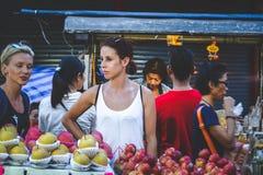 La vie de Chinatown Photos libres de droits