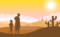 La vie de désert Photo libre de droits
