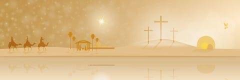 La vie de Jésus illustration stock