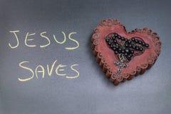 La vie de Jesus Saves Image libre de droits