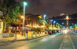 La vie de nuit de Haïfa Photographie stock libre de droits