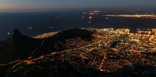La vie de nuit de la ville Image stock