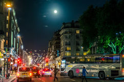 La vie de nuit de ville Images stock