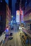 La vie de nuit en Hong Kong Images libres de droits