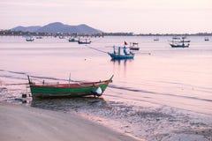 La vie de pêcheur pendant le matin Photos libres de droits