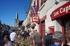 La vie de petite ville dans les Frances Image stock