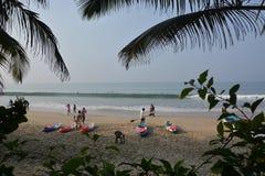 La vie de plage dans Goa Images stock
