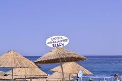 La vie de plage de la Turquie Photographie stock