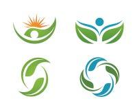 La vie de santé et logo d'amusement illustration de vecteur