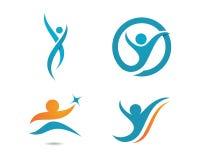 La vie de santé et logo d'amusement illustration stock