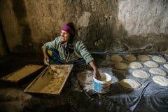 La vie de village d'Afyonda images libres de droits