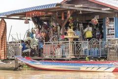 La vie de village dans un village de flottement près de Siem Reap Photo stock