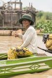 La vie de village dans un village de flottement près de Siem Reap Photographie stock