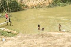 La vie de village dans un village de flottement près de Siem Reap Photo libre de droits