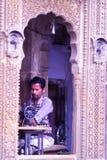 La vie de village de désert dans Bhuj, Goudjerate, Inde Images libres de droits