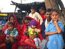 La vie de village, Ràjasthàn rural, Inde Photos stock