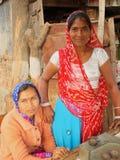 La vie de village, Ràjasthàn rural, Inde Photographie stock