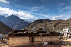 La vie de village, Spiti, tib?tain, himachal photos stock