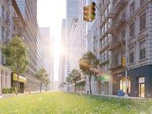 La vie de ville écologiquement grande rendu 3d Image libre de droits