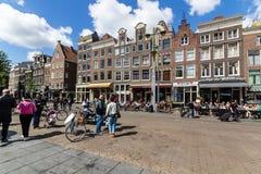 La vie de ville de région de De Pipj d'Amsterdam Images libres de droits