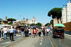 La vie de ville de Rome Vue de ville de Rome le 1er juin 2014 Photographie stock libre de droits