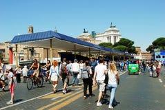 La vie de ville de Rome Vue de ville de Rome le 1er juin 2014 Images libres de droits