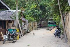 La vie des habitants du village de pêche philippin images libres de droits