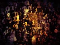 La vie dimensionnelle des nombres Photographie stock