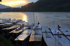 La vie du Mekong Photographie stock