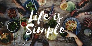 La vie est être simple apprécient l'esprit détendent le concept d'équilibre image stock