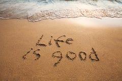 La vie est bonne Image stock
