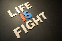 La vie est combat photo libre de droits