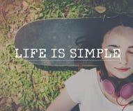 La vie est concept simple de bonheur de mode de vie Photos stock